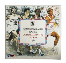 1986 £2 Common Wealth Games Brilliant Uncirculated pack